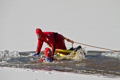 1-27-13 Ice Rescue Drill, Spy Pond
