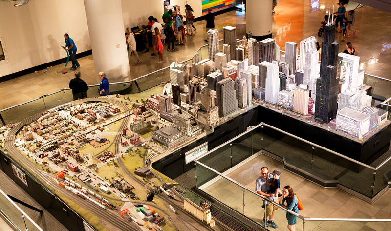 A model of downtown Chicago ...