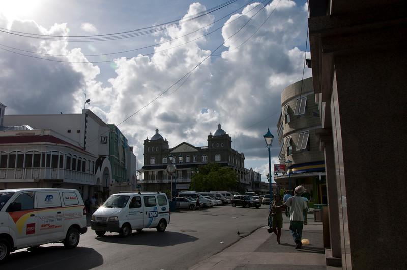 Part of Bridgetown, Barbados downtown.