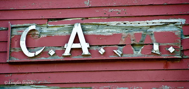 2012  Grainery Wall with Carl A. Meldahl's initials