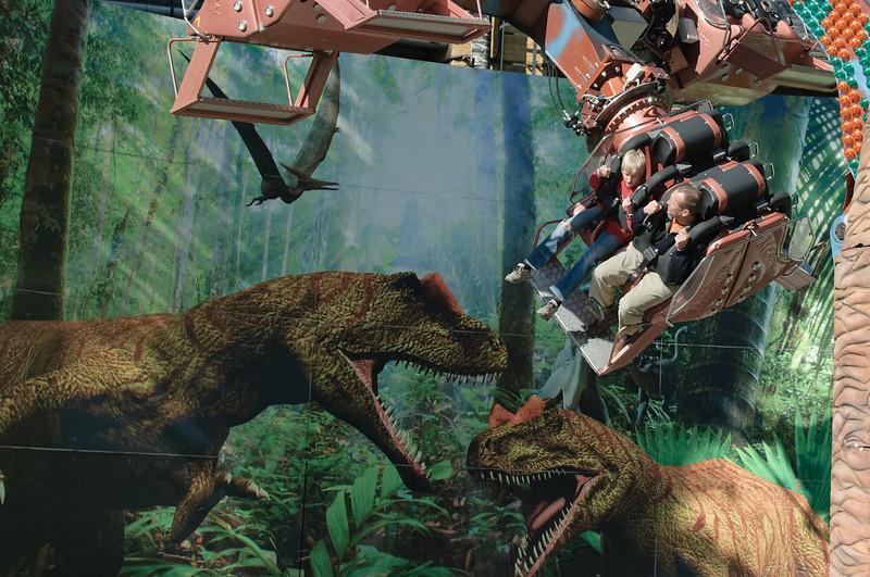 Sogar Dinosaurier gab es hier.
