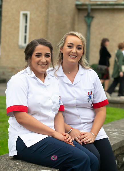 26/09/2019. Nurses Graduation at University Hospital Waterford are Kelly Walsh Tipperary and Sarah Hickson Kilkenny. Picture: Patrick Browne