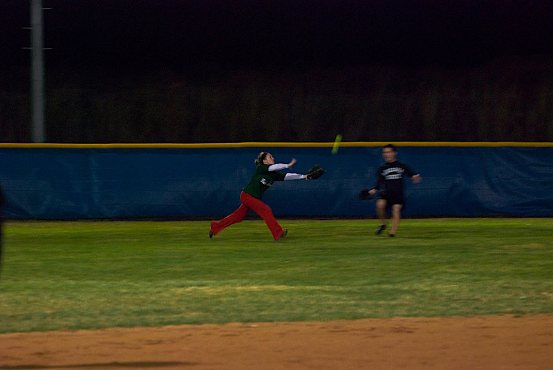 Jen makes a great catch!