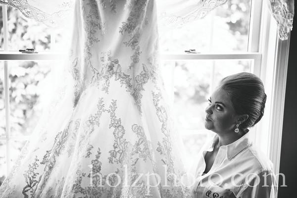 Ashley & D.J. B/W Wedding Photos