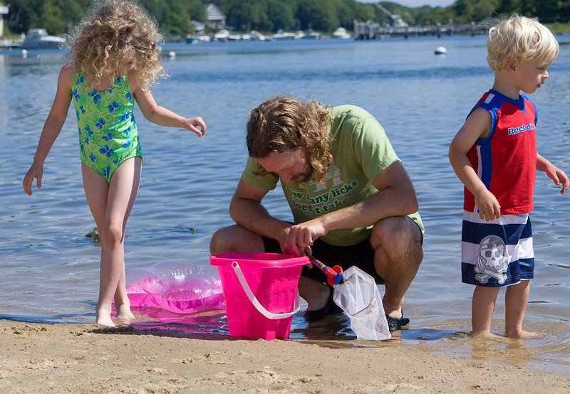 Collecting more crabs and other sea life
