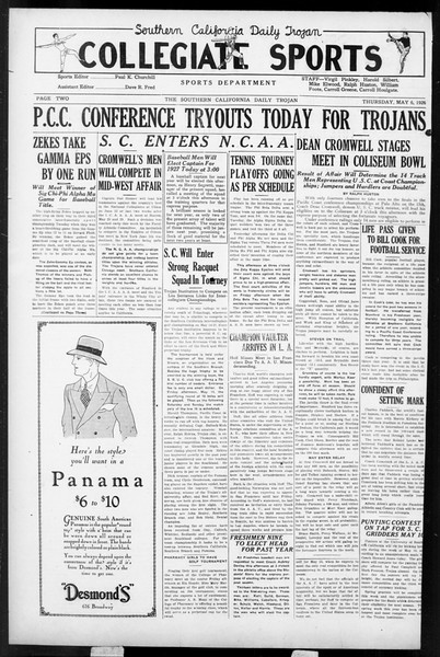 Daily Trojan, Vol. 17, No. 138, May 06, 1926