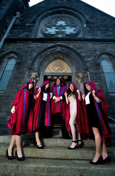 30/10/2015. Waterford Institute of Technology Conferring. Pictured are newly Conferred PHD's. pictured from left, Katherine Meagher, Waterford, Anne Marie Burns, Cavan, David Phelan, Waterford, Tracey Coady, Waterford, Sarah Duggan, Waterford. Picture: Patrick Browne