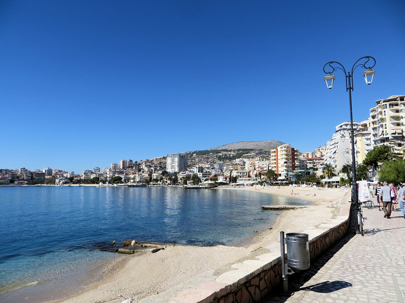 Saranda is a city of about 20,000 people on the Ionian Sea in Albania.  It has about 300 sunny days per year.