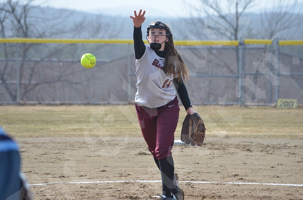 Softball; Ellsworth vs Medomak; Pre-season; 4/14