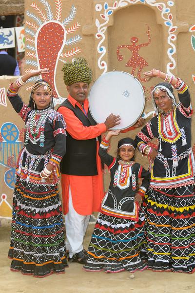 Artists from Rajki-Puran Nath Sapera & Party, Jaipur at the Suraj Kund Mela 2009 held in Haryana (outskirts of Delhi), North India. The Suraj Kund Mela is an annual fair held near Delhi. Folk dances, handicrafts and a lot of fun.