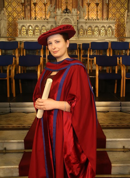 Pictured is Magdalena Necpalova of Slovakia and Piltown, Kilkenny who was conferred a Doctor of Philosophy. Picture: Patrick Browne.