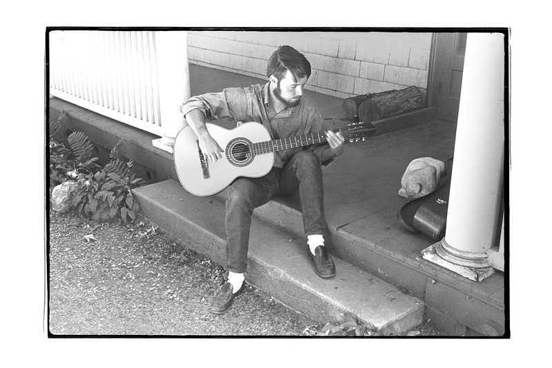 Dave Lovell on Front Porch