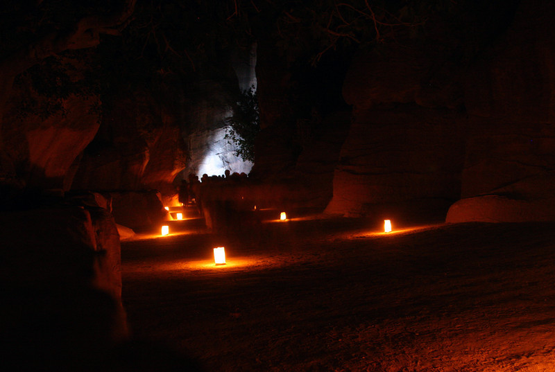 Petra - Petra by Night - The Siq.
