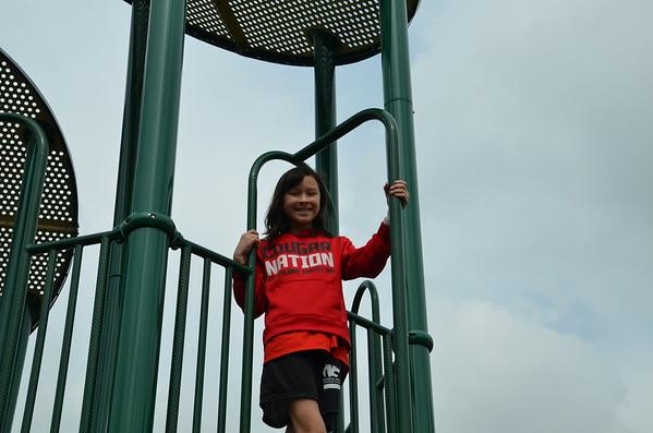 2020 5th graders on playground
