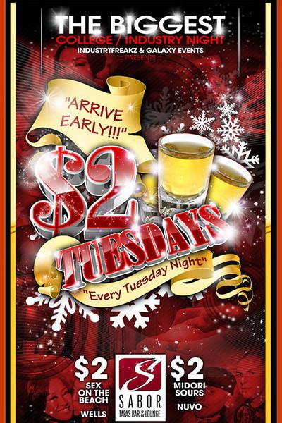 $ 2 Tuesdays @ Sabor Tapas Bar & Lounge 1.26.09