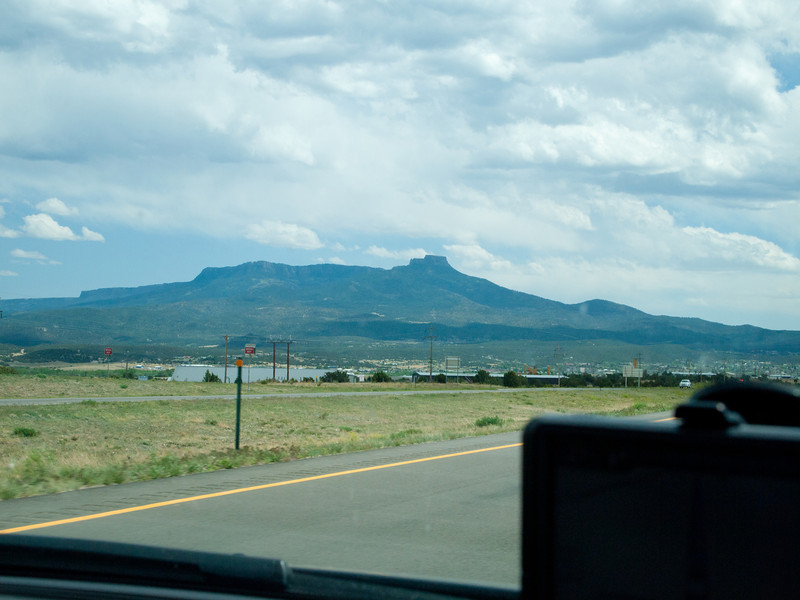 This is the town of Trinidad, CO and Fishers Peak
