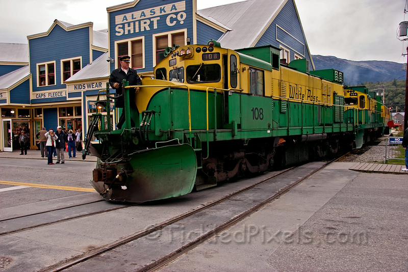 Shunting the WP&YR Locomotives in Downtown Skagway