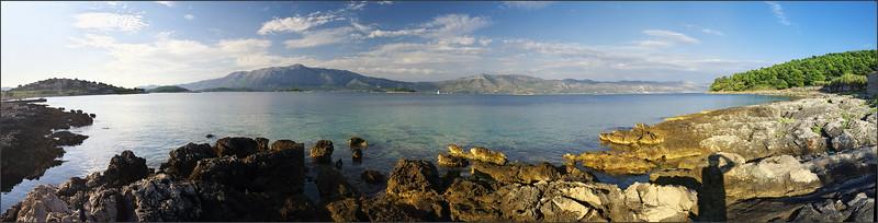 Panoráma z pláže Bilin Zal