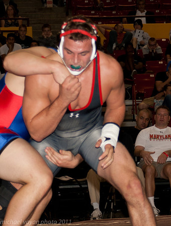 285 lbs Ryan Flores, American vs Spencer Myers, Maryland