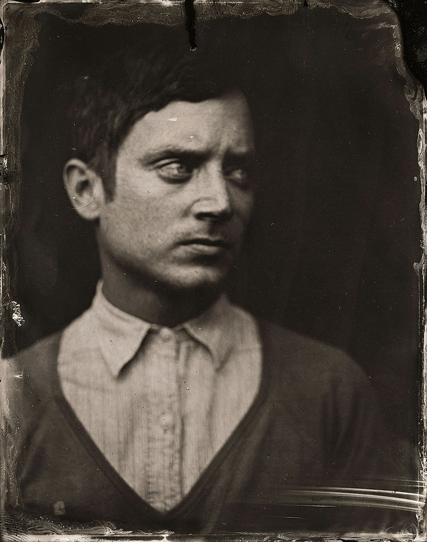 . Elijah Wood poses for a tintype (wet collodion) portrait at The Collective and Gibson Lounge Powered by CEG, during the 2014 Sundance Film Festival in Park City, Utah. (Photo by Victoria Will/Invision/AP)