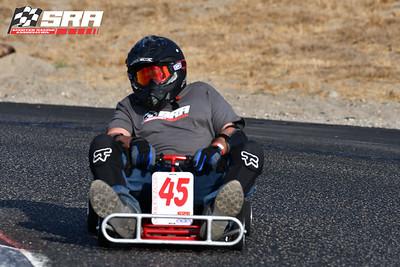 Go Quad Racer # 45 Black Helmet