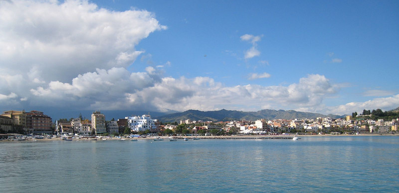 Naxos, Sicily - view from the ship
