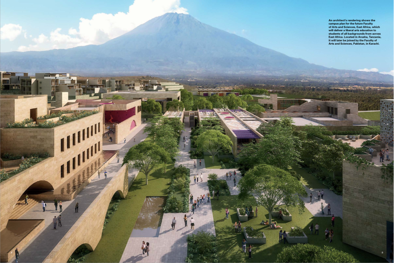 Rendering of the Aga Khan University's future Faculty of Arts and Sciences in Arusha, Tanzania.