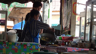 Street food being prepared for our lunch