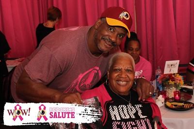 Washington Redskins WOW & Redskins Salute Think Pink Tailgate: 10/06/2019