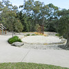 panorama with cubby sandpit and swing