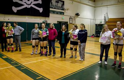 Vashon Island High School Volleyball Seniors Night 2016