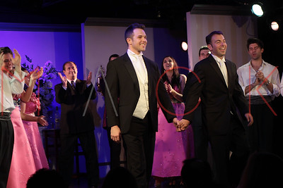 "New York, NY - September 01:  The curtain call for the opening night of ""My Big Gay Italian Wedding"", New York, USA."