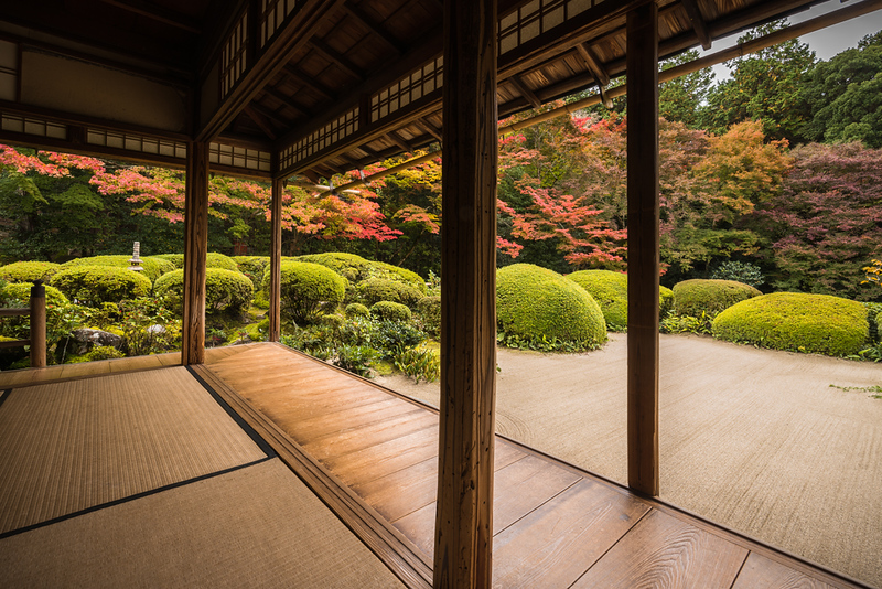 Zen Karayo garden of Shisen-do temple. Editorial credit: Kanisorn Pringthongfoo / Shutterstock.com