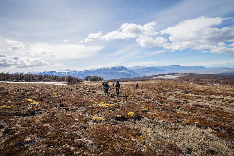 Hiking in Patagonia El Chalten Argentina Lina Stock