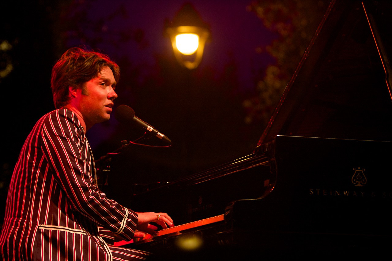 Rufus Wainwright performs at the Nice Jazz Festival on 7/19/08