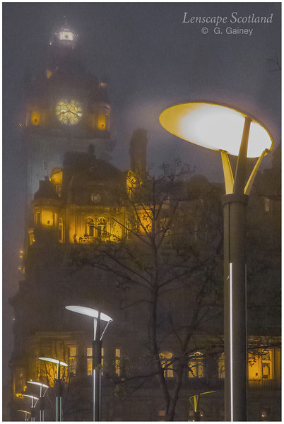 Princes Street lamps on a misty evening (2)