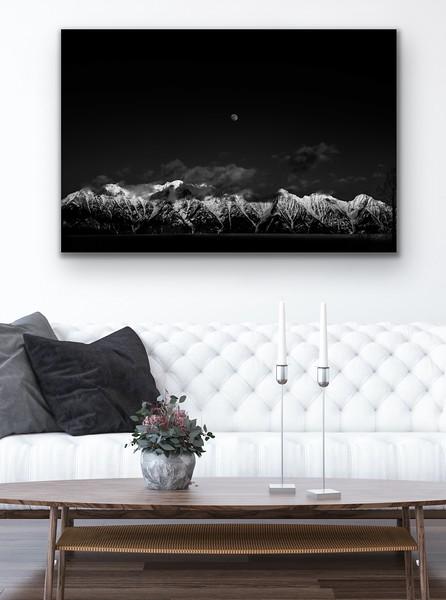 'Moon Rise Sun Set' Canvas Wrap