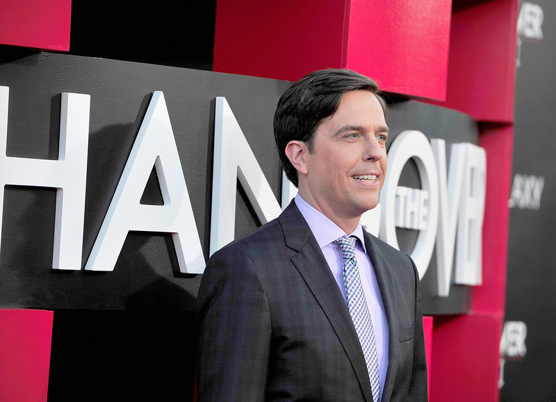 """. Actor Ed Helms attends the premiere of Warner Bros. Pictures\' \""""Hangover Part 3\"""" at Westwood Village Theater on May 20, 2013 in Westwood, California.  (Photo by Frazer Harrison/Getty Images)"""
