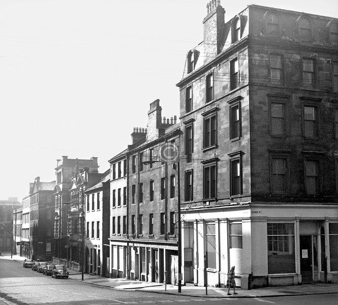 Montrose St, west side south of George St. All the early 19th century buildings have gone.  