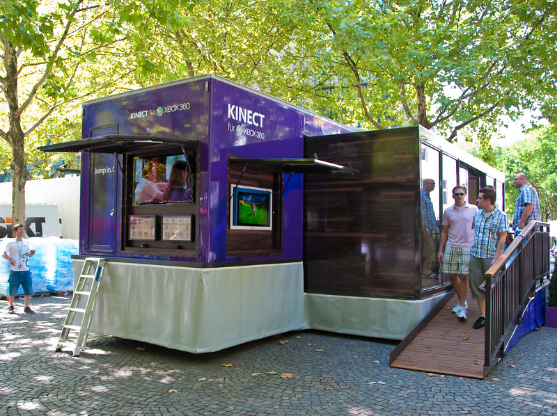 Xbox 360 Kinect booth at Rudolphplatz in Cologne