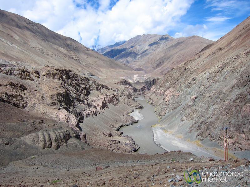 High Desert Mountains, Leh to Zhingchan - Ladakh, India