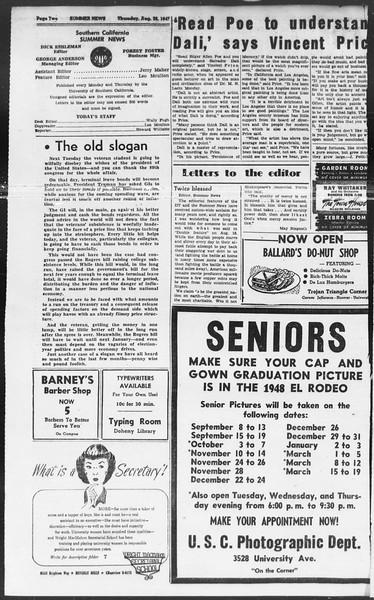 Summer News, Vol. 2, No. 25, August 28, 1947