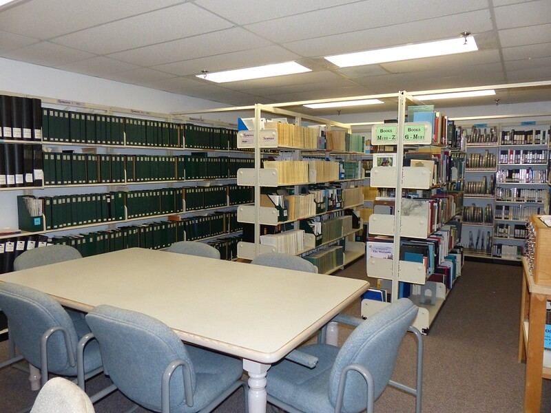 Algonquin Park library with archived texts, documents and media