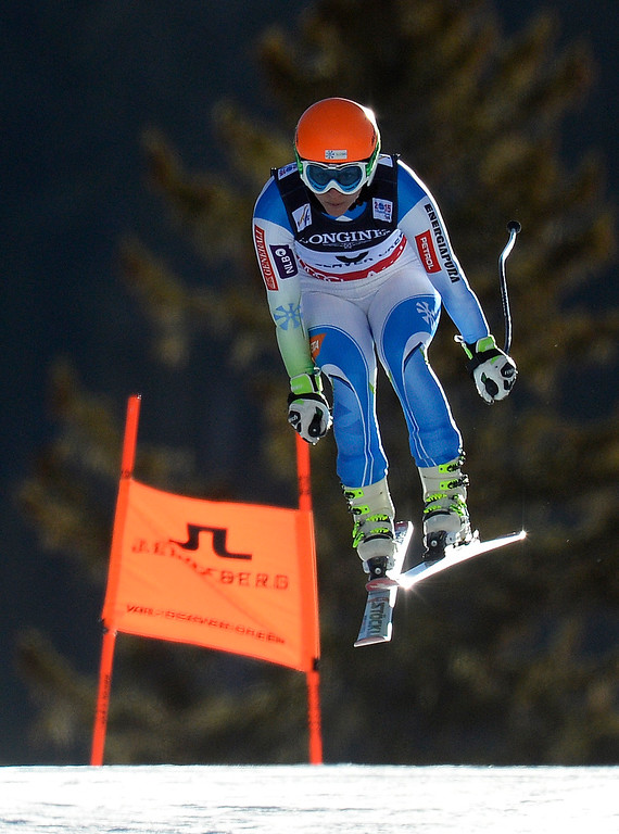 . BEAVER CREEK, CO - FEBRUARY 9: Vanja Brodnik of Slovenia competes in the Women\'s downhill portion of the women\'s alpine combined race at the FIS Alpine World Ski Championships in Beaver Creek, CO. February 8, 2015. (Photo By Helen H. Richardson/The Denver Post)