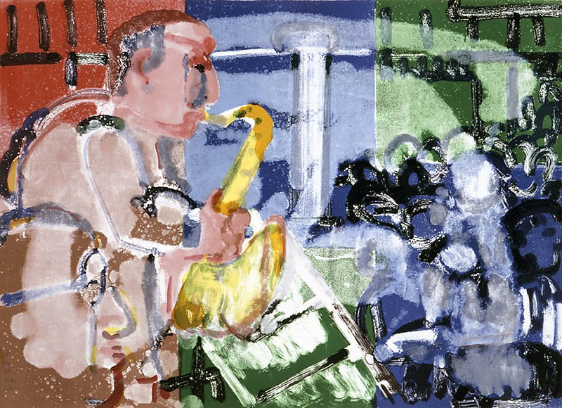 "Romare Bearden, ""Bopping at Birdland"" (1979)"