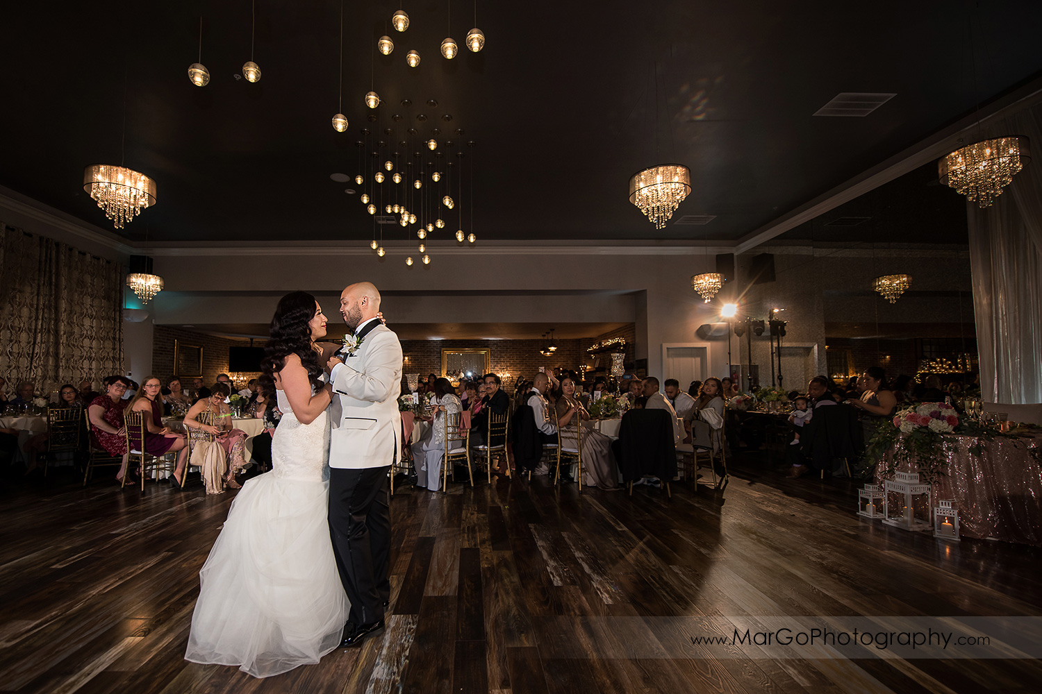 bride and groom during first dance at Sunol's Casa Bella