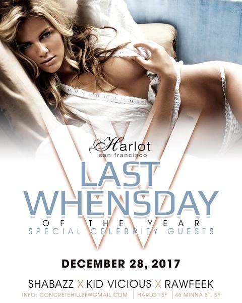 HarlotSF Presents Whenday 12.28.2016