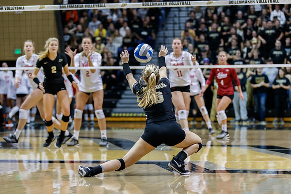Purdue Volleyball vs IU 2018-11-3