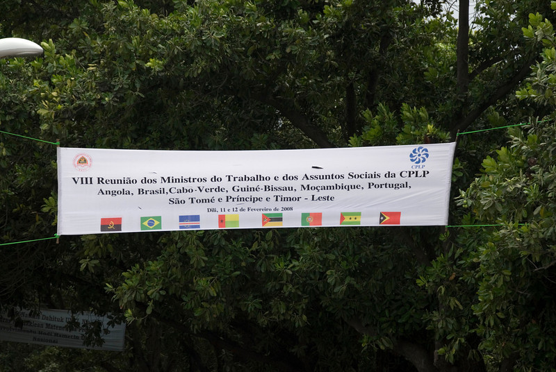 Portugese Convention Banner displayed in Dili, East Timor