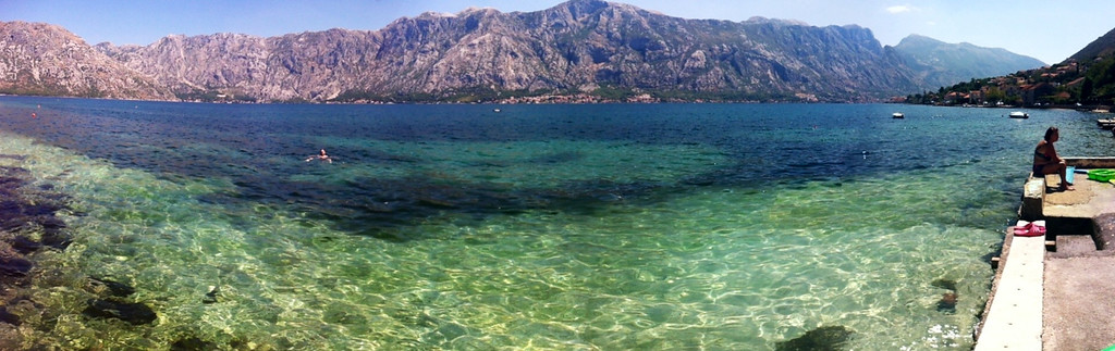 Clear waters of Kotor Bay, Montenegro